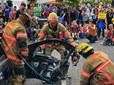 Gresham firefighters demonstrate an auto extraction at CityFest.