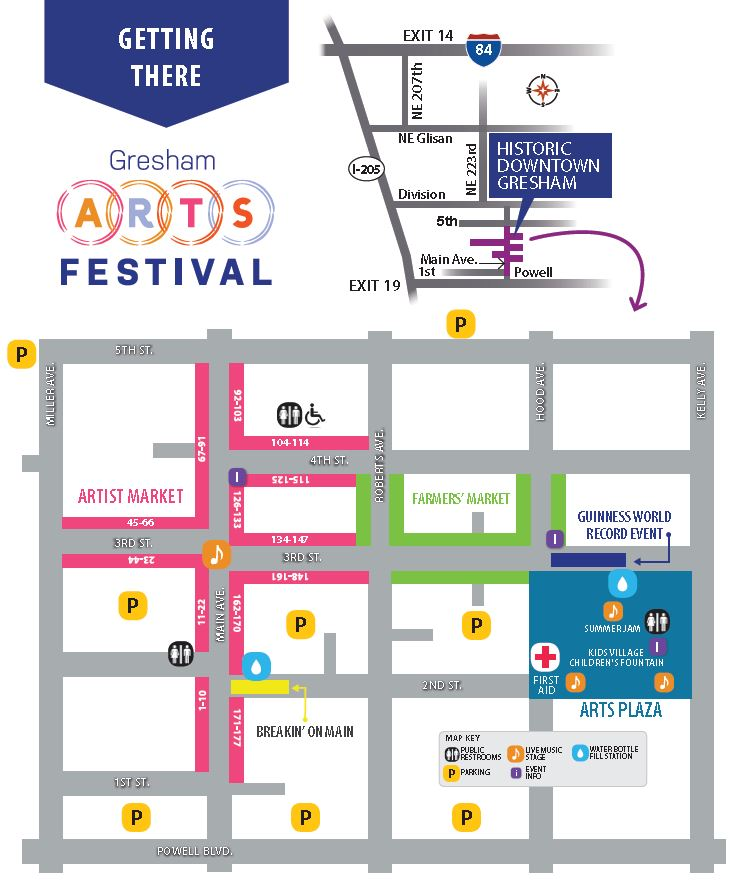 Gresham Arts Festival Map And Directions | City of Gresham on