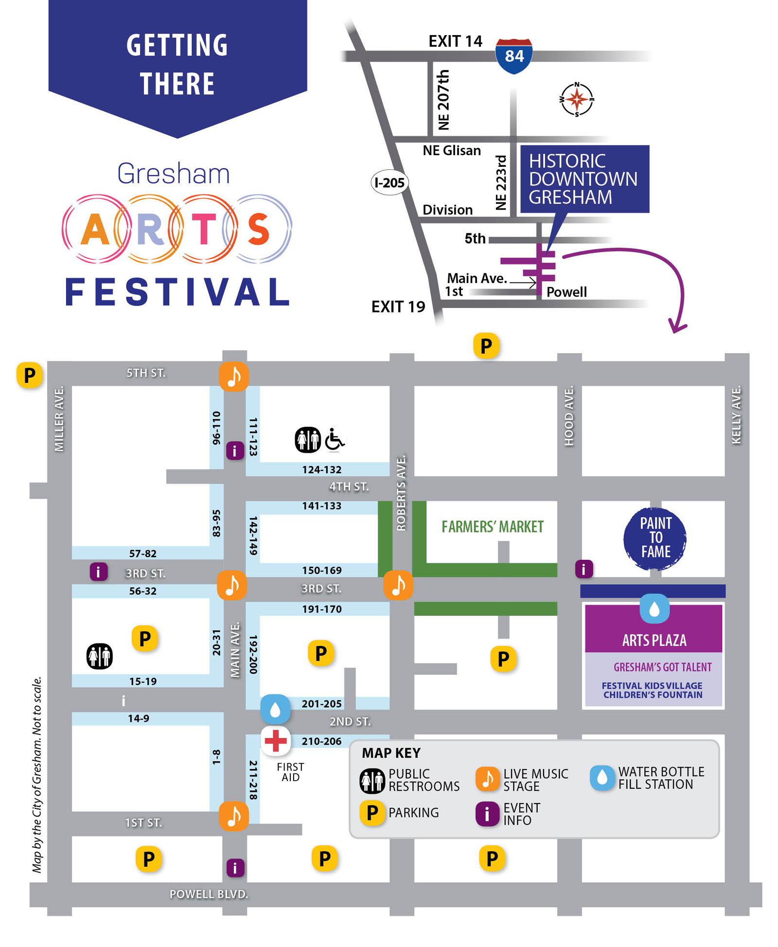 Gresham Arts Festival Map 2018