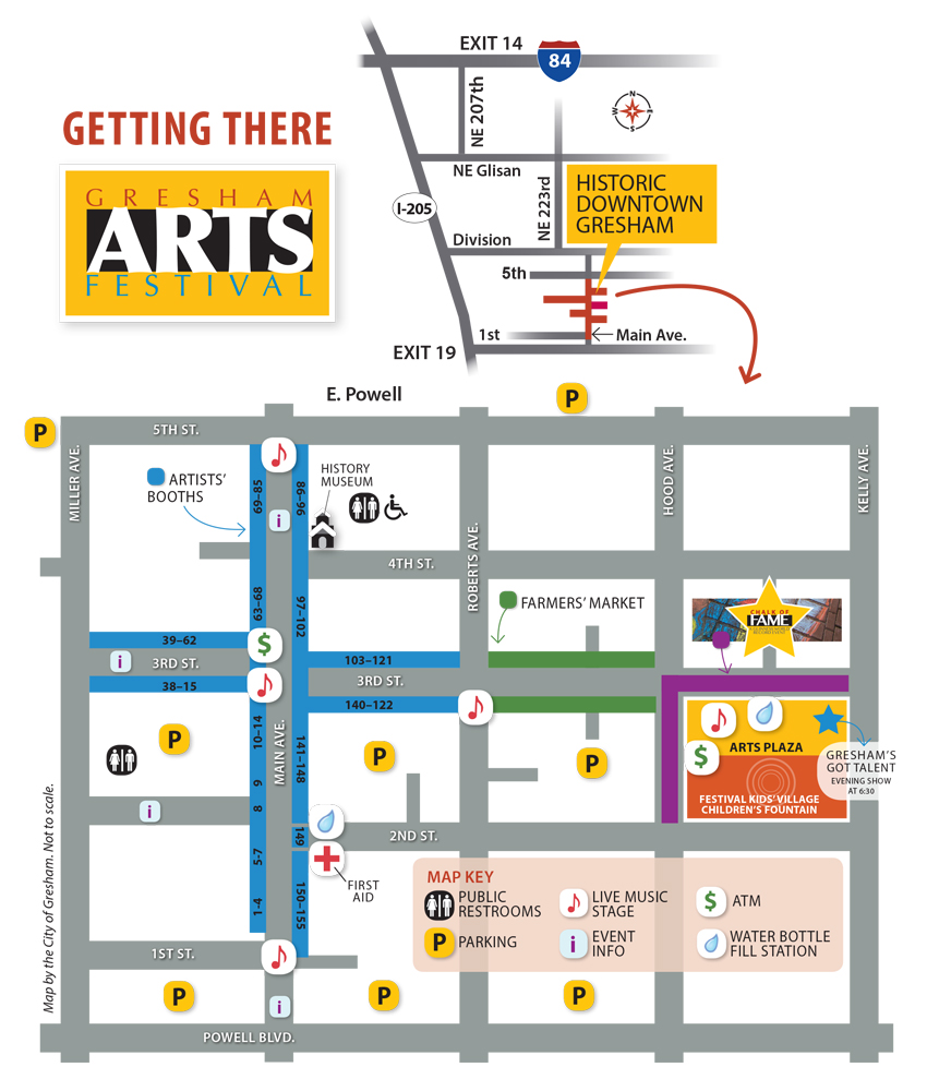 Gresham Arts Festival Map And Directions City of Gresham