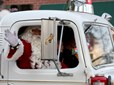 Santa Claus on his way to help light Gresham's Christmas tree