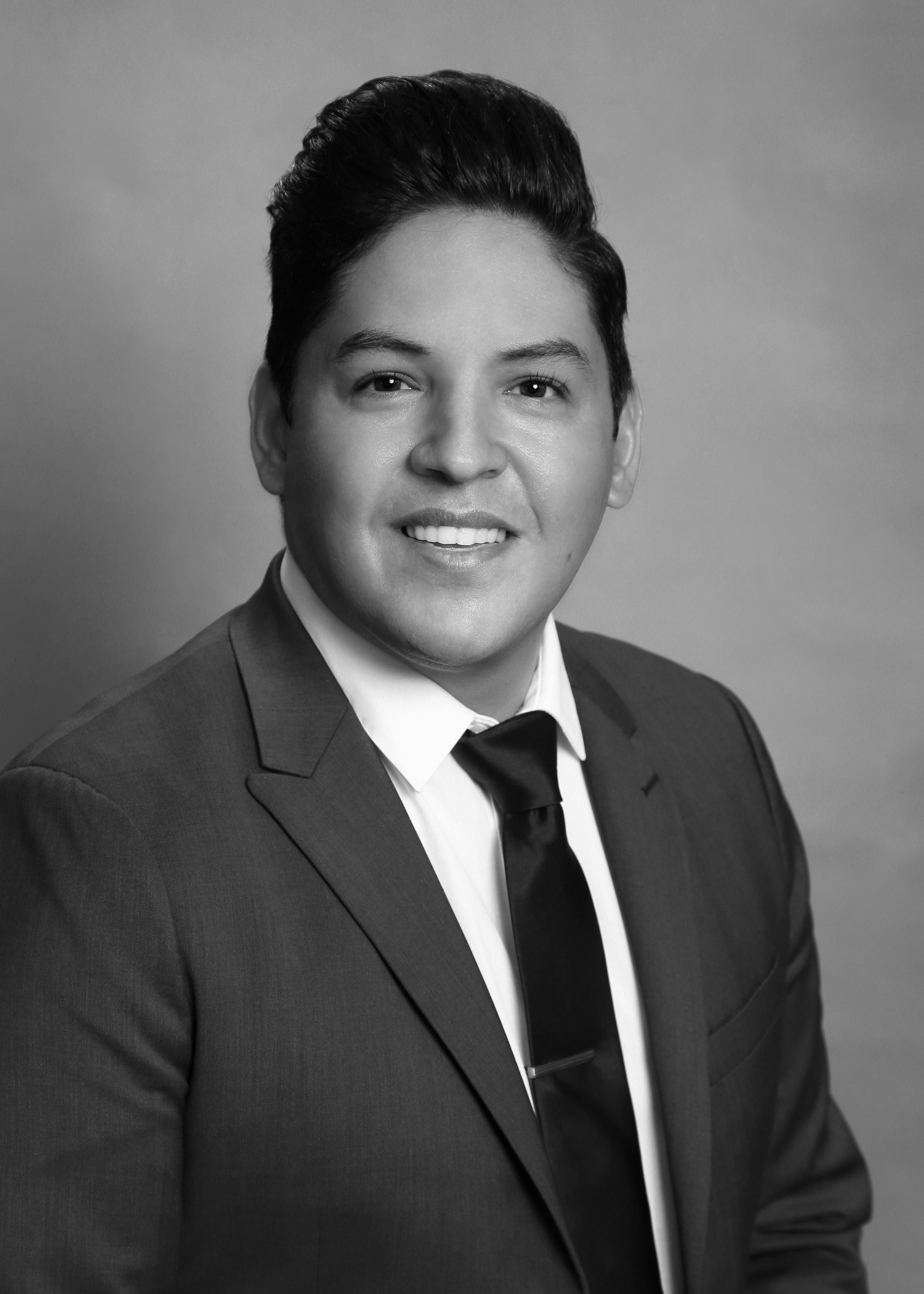 Councilor Eddy Morales - Black and White Photo