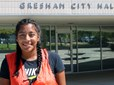 City of Gresham intern Michelle Jarmillo