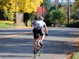 Bicyclist in Historic Southeast Gresham