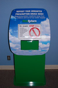 Prescription Drug Drop Box at the Gresham Police Department, open Monday through Friday, 8 am to 6 pm at 1333 NW Eastman Parkway
