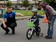 Bike Rodeo participant and volunteer