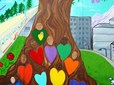 Youth Advisory Committee mural in Rockwood